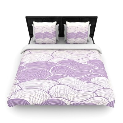 The Lavender Seas by Pom Graphic Woven Duvet Cover by KESS InHouse