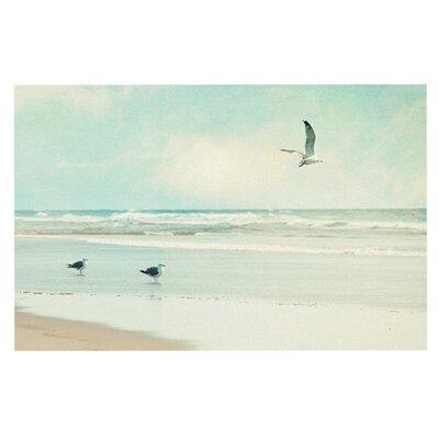 Away We Go Beach Seagull Doormat by KESS InHouse