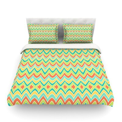 Bright and Bold by Pom Graphic Design Cotton Duvet Cover by KESS InHouse