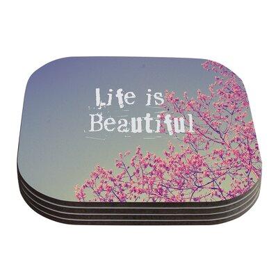 Life Is Beautiful by Rachel Burbee Coaster by KESS InHouse
