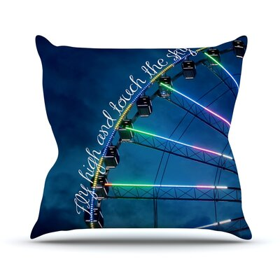 Fly High And Touch The Sky by Beth Engel Throw Pillow by KESS InHouse