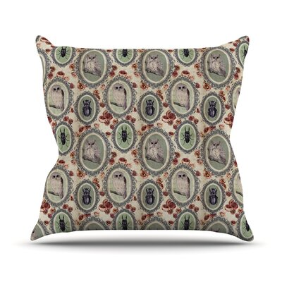 Camafeu by DLKG Design Beetles Throw Pillow by KESS InHouse