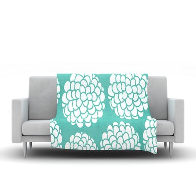 Hydrangea's Blossoms by Pom Graphic Design Fleece Throw Blanket by KESS InHouse
