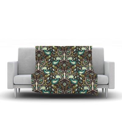 Butterfly Garden by Suzie Tremel Fleece Throw Blanket by KESS InHouse