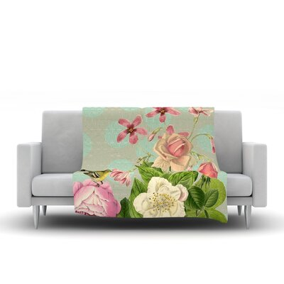 Vintage Garden Cush by Suzanne Carter Fleece Throw Blanket by KESS InHouse