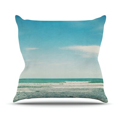 The Teal Ocean by Susannah Tucker Throw Pillow by KESS InHouse
