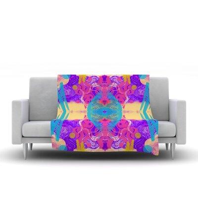 Glitch Kaleidoscope by Vasare Nar Fleece Throw Blanket by KESS InHouse