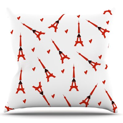 Paris by Louise Throw Pillow by KESS InHouse