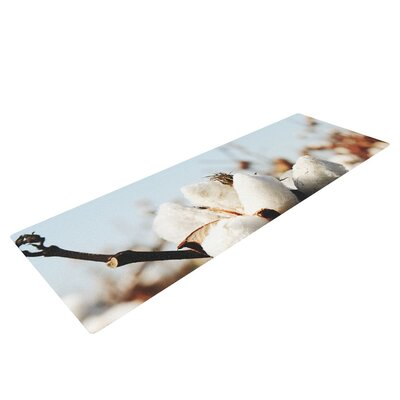 Southern Snow by Beth Engel Cotton Yoga Mat by KESS InHouse