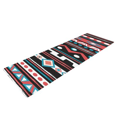 Black Tipi by Nika Martinez Tribal Yoga Mat by KESS InHouse