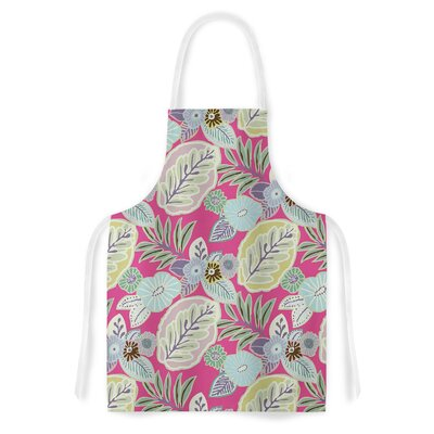 Begonia Cherry by Laura Nicholson Leaves Artistic Apron by KESS InHouse