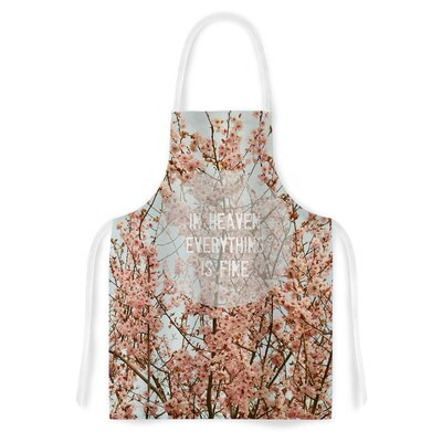 In Heaven by Robin Dickinson Cherry Blossom Artistic Apron by KESS InHouse