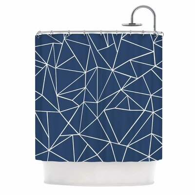 Abstraction Outline by Project M Abstract Shower Curtain by KESS InHouse