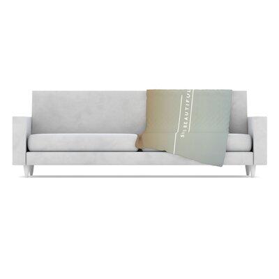 Simple Beautiful Throw Blanket by KESS InHouse