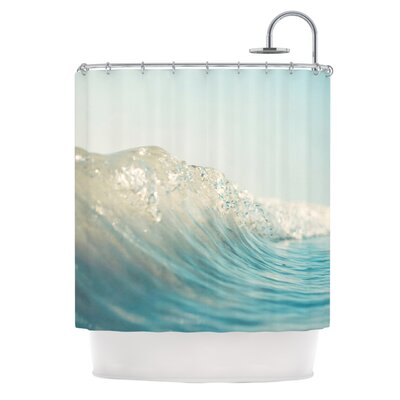 The Wave Polyester Shower Curtain by KESS InHouse