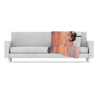 Dandy Fleece Throw Blanket by KESS InHouse