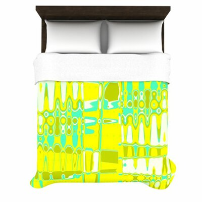 Changing Gears in Sunshine by Vikki Salmela Woven Duvet Cover by KESS InHouse