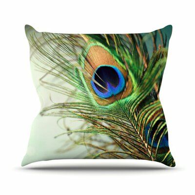 Wayfair Teal Throw Pillows : KESS InHouse Peacock Feather Throw Pillow & Reviews Wayfair