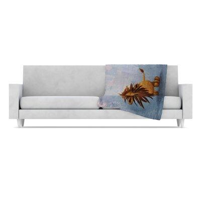 Dandy Lion Fleece Throw Blanket by KESS InHouse