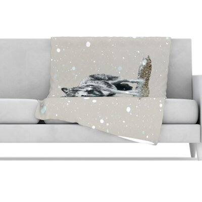 Wolf Fleece Throw Blanket by KESS InHouse