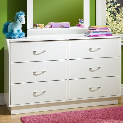 Logik 6 Drawer Double Dresser Pure White