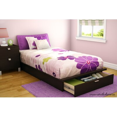 Twin Platform Bed with Storage in Chocolate by South Shore