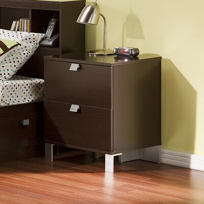 Cakao 2 Drawer Nightstand by South Shore