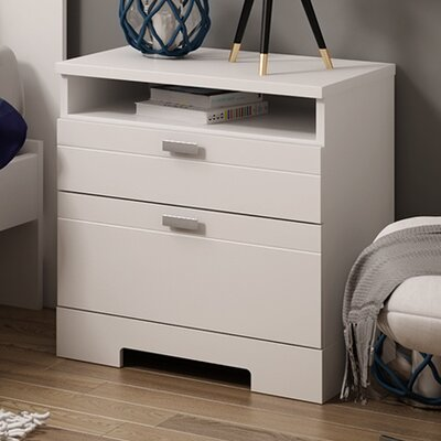 South Shore Reevo 2 Drawer Nightstand Nightstand 3840060
