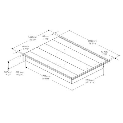 South Shore Nichols Platform Bed 3070 23X TH1261 on best wood for garden furniture