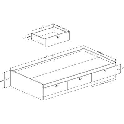 South Shore Cakao Mate's Bed Box with Storage