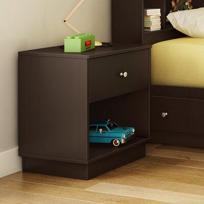 South Shore Litchi 1 Drawer Nightstand 9011062 9012062