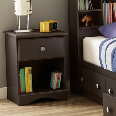 South Shore Morning Dew 1 Drawer Nightstand 9016062