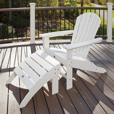 Trex Outdoor Trex Outdoor Cape Cod Adirondack Chair and Footstool Set