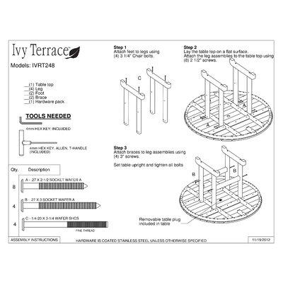 Ivy Terrace Ivy Terrace 5 Piece Dining Set