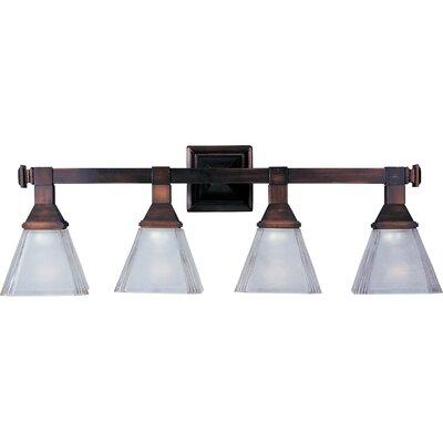 Bathroom Vanity Lights Reviews : Maxim Lighting Brentwood 4-Light Bath Vanity & Reviews Wayfair