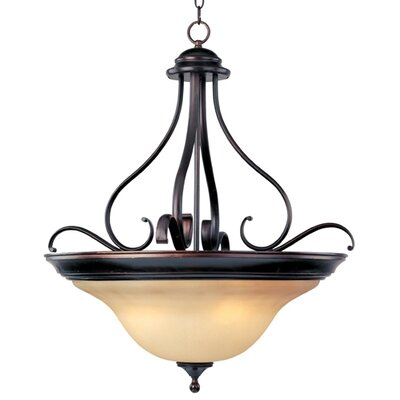 Linda EE 4-Light Invert Bowl Pendant by Maxim Lighting