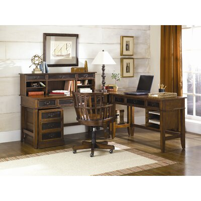Hammary Mercantile Computer Desk with Keyboard Tray and 3 Drawer