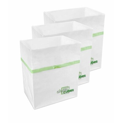 10 Gallon Recycling Waste Basket by Clean Cubes LLC