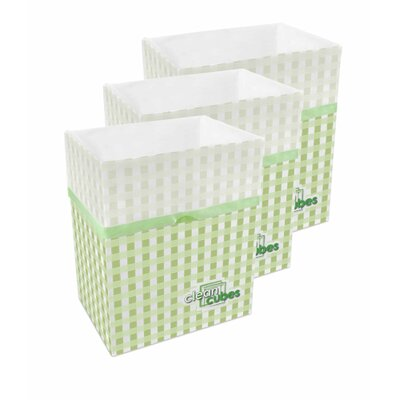 Picnic Pattern 10 Gallon Recycling Waste Basket by Clean Cubes LLC