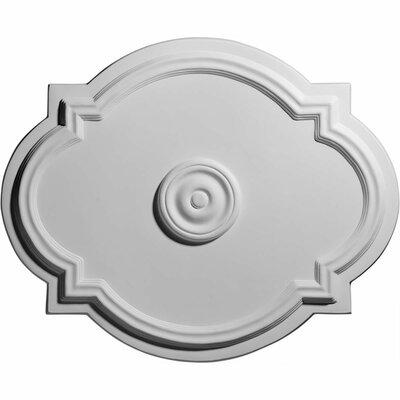 """Ekena Millwork Waltz 17.38""""H x 21.25""""W x 1""""D Ceiling Medallion"""