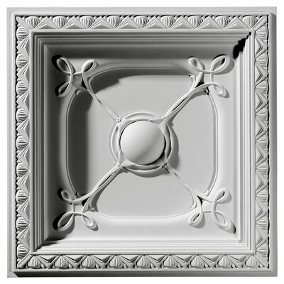Ekena Millwork Colonial 2 ft. x 2 ft. Drop-In Ceiling Tile in White