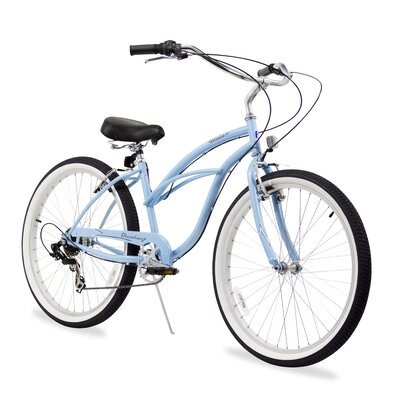 Women's Urban Lady 7 Speed Beach Cruiser Bike by Beachbikes