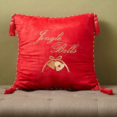 Christmas 2015 Jingle Bells Decorative Throw Pillow by Dainty Home