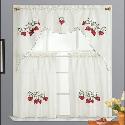 Kitchen Strawberry Curtains