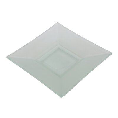 "Ten Strawberry Street Sheer Frosted 6"" Square Platter"