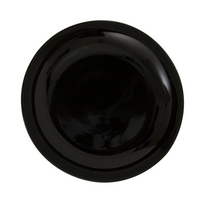 """Ten Strawberry Street Black Coupe 6"""" Bread and Butter Plate"""