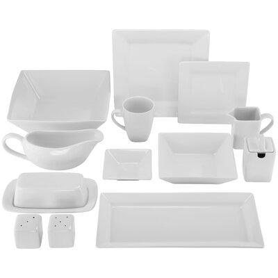 40 Piece Porcelain Dinnerware Set by Ten Strawberry Street