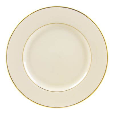 "Ten Strawberry Street Cream Double Gold 12"" Buffet Plate"