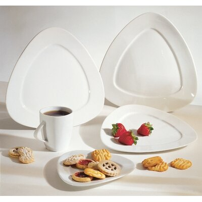 Ten Strawberry Street White Triangle Dinnerware Collection