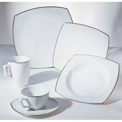 Ten Strawberry Street Lotus Silver Line Dinnerware Collection